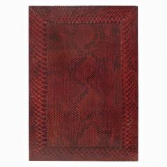 Karl Springer Karl Springer Burgundy Python Lidded Box 1980s - 969070