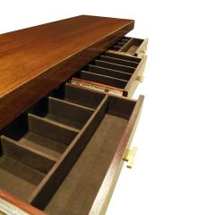 Karl Springer Karl Springer Credenza in Lacquered Bubinga with Oxidized Bronze Doors 1980s - 1080642