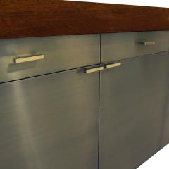 Karl Springer Karl Springer Credenza in Lacquered Bubinga with Oxidized Bronze Doors 1980s - 1080645
