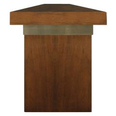 Karl Springer Karl Springer Credenza in Lacquered Bubinga with Oxidized Bronze Doors 1980s - 1080647