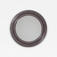 Karl Springer Karl Springer Double Bullseye Mirror in Faux Stone Lacquer circa 1980s - 646271