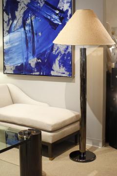 Karl Springer Karl Springer Elegant Floor Lamp in Gunmetal 1970s - 975157