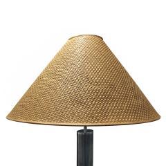 Karl Springer Karl Springer Elegant Floor Lamp in Gunmetal 1970s - 975162