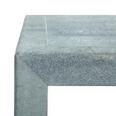 Karl Springer Karl Springer End Tables in Shagreen with Bone Inlays 1980s Signed  - 2121086