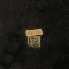 Karl Springer Karl Springer End Tables in Shagreen with Bone Inlays 1980s Signed  - 2121088