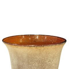 Karl Springer Karl Springer Exceptional Hand Blown Scavo Glass Vase 1980s signed  - 957033
