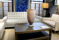 Karl Springer Karl Springer Exceptional Hand Blown Scavo Glass Vase 1980s signed  - 957035