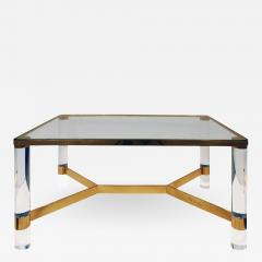 Karl Springer Karl Springer Exceptional Round Leg Lucite Coffee Table 1980s signed  - 1125666