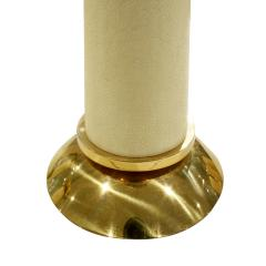 Karl Springer Karl Springer Exceptional Set of 3 Candle Holders in Brass and Shagreen 1980s - 851831