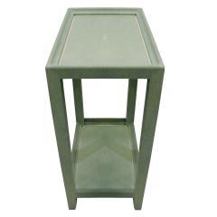 Karl Springer Karl Springer Extraordinary Pair of Telephone Tables in Mint Shagreen 2002 - 565829