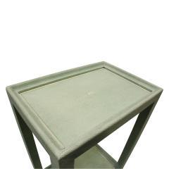 Karl Springer Karl Springer Extraordinary Pair of Telephone Tables in Mint Shagreen 2002 - 565832