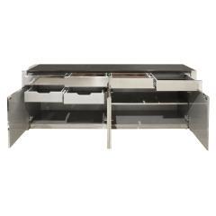 Karl Springer Karl Springer Four Door Four Drawer Cabinet in Stainless Steel ca 1982 - 1034730