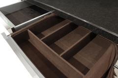 Karl Springer Karl Springer Four Door Four Drawer Cabinet in Stainless Steel ca 1982 - 1034733