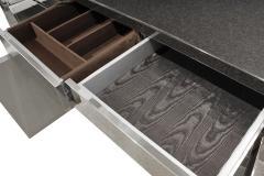 Karl Springer Karl Springer Four Door Four Drawer Cabinet in Stainless Steel ca 1982 - 1034734