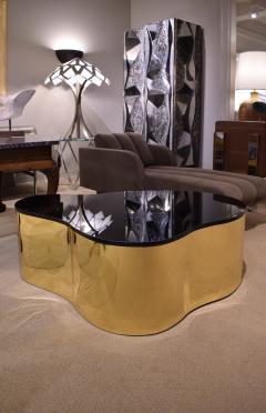 Karl Springer Karl Springer Free Form Coffee Table In Seamlessly Welded Brass 1980s - 1280999