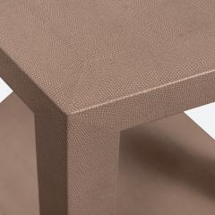 Karl Springer Karl Springer Hexagonal Side Table in Embossed Lizard 1989 Signed  - 2130006