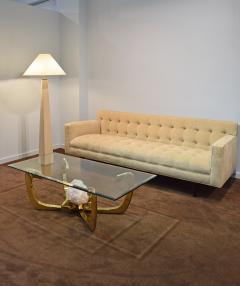 Karl Springer Karl Springer J M F Floor Lamp in Sandstone with Bronze Hardware 1985 - 2013176