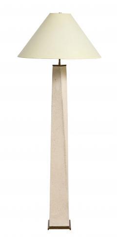 Karl Springer Karl Springer J M F Floor Lamp in Sandstone with Bronze Hardware 1985 - 2013179