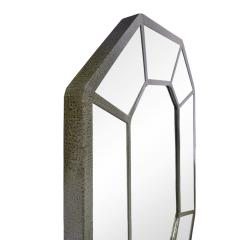 Karl Springer Karl Springer Large Hand Crafted Octagonal Mirror In Lacquered Linen 1970s - 1280411