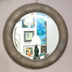 Karl Springer Karl Springer Large Shagreen Beveled Circular Mirror - 1524248