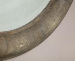 Karl Springer Karl Springer Large Shagreen Beveled Circular Mirror - 1524249