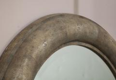 Karl Springer Karl Springer Large Shagreen Beveled Circular Mirror - 1524250