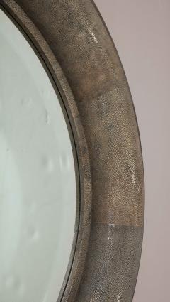 Karl Springer Karl Springer Large Shagreen Beveled Circular Mirror - 1524251