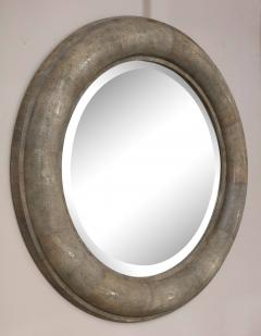 Karl Springer Karl Springer Large Shagreen Beveled Circular Mirror - 1524254