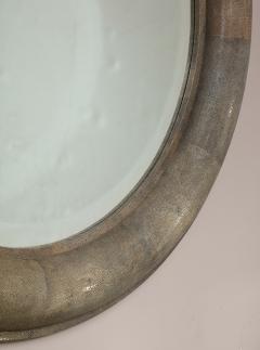 Karl Springer Karl Springer Large Shagreen Beveled Circular Mirror - 1524255