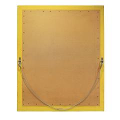 Karl Springer Karl Springer Large Wall Hanging Mirror In Python and Buffalo Skin 1987 Signed  - 1756387