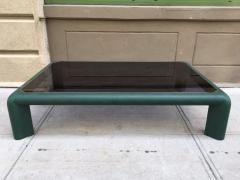 Karl Springer Karl Springer Leather Coffee Table Signed - 421629