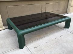 Karl Springer Karl Springer Leather Coffee Table Signed - 421630