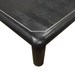 Karl Springer Karl Springer Mark II Coffee Table In Black Lizard Leather 1989 Signed  - 1163963