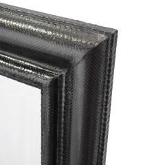 Karl Springer Karl Springer Molding Mirror Covered in Black Python 1970s - 1918878