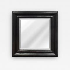 Karl Springer Karl Springer Molding Mirror Covered in Black Python 1970s - 1919757