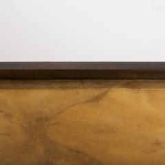 Karl Springer Karl Springer Octagonal Mirror in Lacquered Goatskin 1970s - 1950723