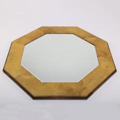 Karl Springer Karl Springer Octagonal Mirror in Lacquered Goatskin 1970s - 1950726