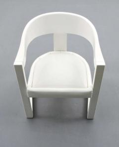 Karl Springer Karl Springer Onassis Armchairs Dining Chairs Set of Four Circa 1980 - 51069