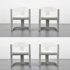 Karl Springer Karl Springer Onassis Armchairs Dining Chairs Set of Four Circa 1980 - 51113
