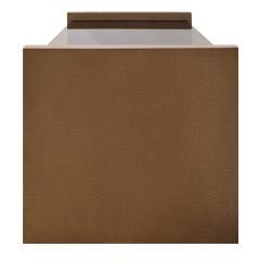 Karl Springer Karl Springer Pair Of Bedside Tables in Emu Leather And Bronze Glass Tops 1980s - 1156569