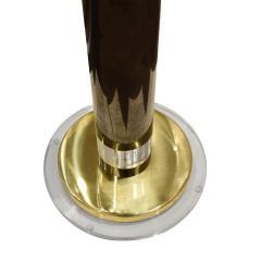 Karl Springer Karl Springer Pair of Exceptional Torcheres in Gunmetal Brass and Lucite 1980s - 1641679