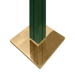 Karl Springer Karl Springer Pair of Floor Lamps in Green Emu Leather 1970s - 2068391