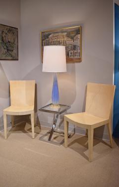 Karl Springer Karl Springer Pair of JMF Chairs in Lacquered Goatskin 1970s - 1170216