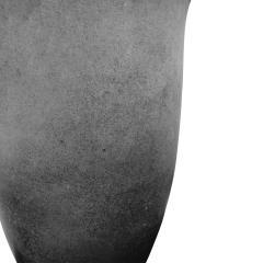 Karl Springer Karl Springer Pair of Monumental Hand Blown Scavo Glass Urns 1980s Signed  - 1741893
