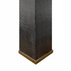 Karl Springer Karl Springer Pair of Table Lamps In Bronze With Black Cobra 1970s - 1209680