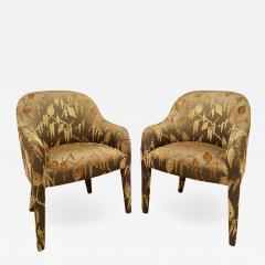 Karl Springer Karl Springer Pair of Upholstered Chairs 1980s - 1152712