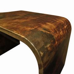 Karl Springer Karl Springer Petit Coffee Table In Lacquered Goatskin 1970s - 1026511