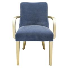 Karl Springer Karl Springer Polaris Arm Chair in Silver Leaf and Mohair ca 1985 - 1137707