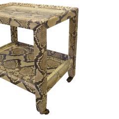 Karl Springer Karl Springer Python Telephone Table with Bronze Castors 1970s - 1950712