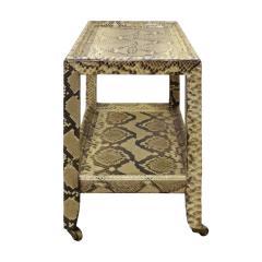 Karl Springer Karl Springer Python Telephone Table with Bronze Castors 1970s - 1950716